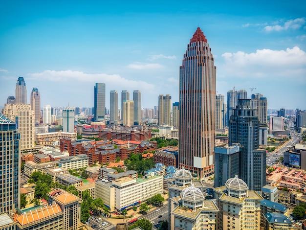 Fotografia aerea dell'orizzonte del paesaggio di architettura della città di tianjin