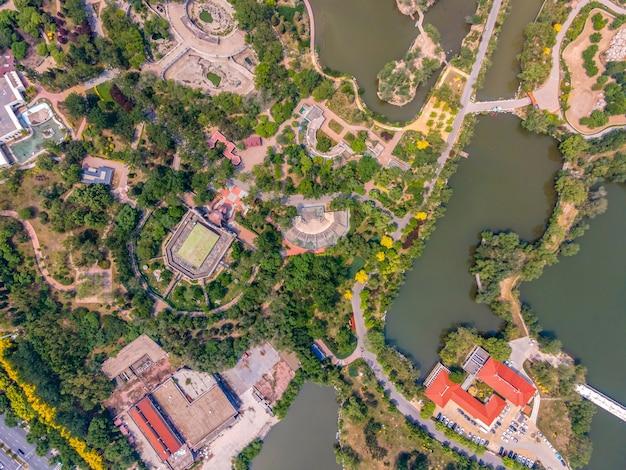 Fotografia aerea del parco acquatico di tianjin