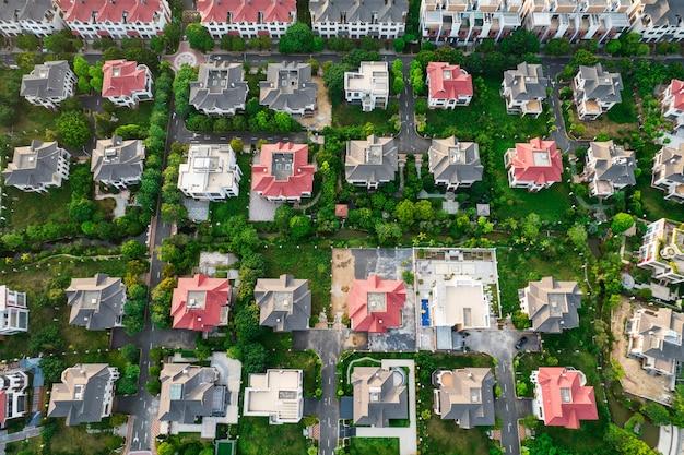Resort di lusso del complesso di ville di fotografia aerea