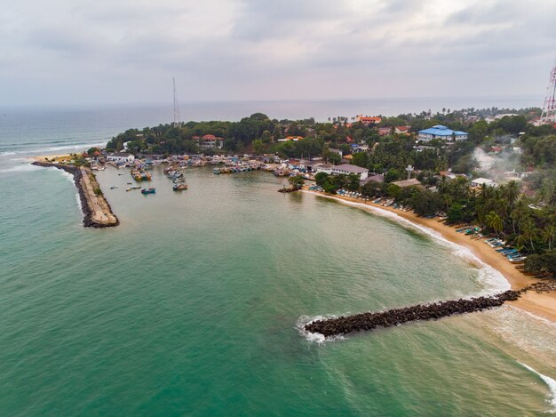 Antenna tangalle beach sri lanka bay navi