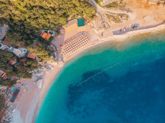 Vista aerea della costa adriatica, colpo del fuco