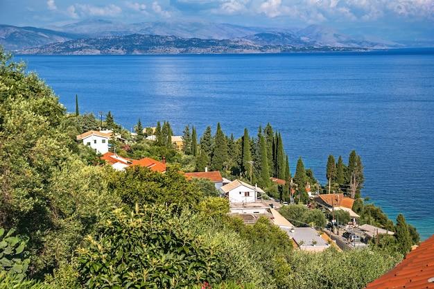 Vista aerea di barbati a corfù in grecia