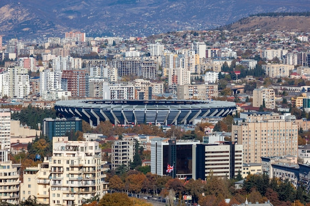 Vista aerea di boris paichadze dinamo arena. sport