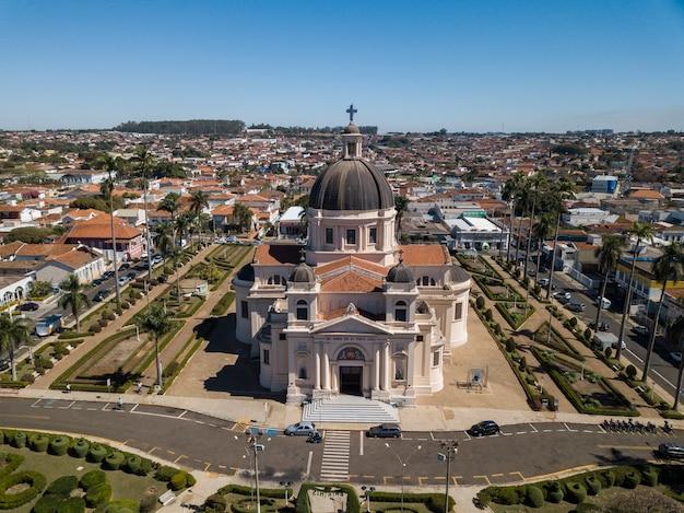 Veduta aerea della città di batatais stato di sao paulo - brasile. settembre, 2018