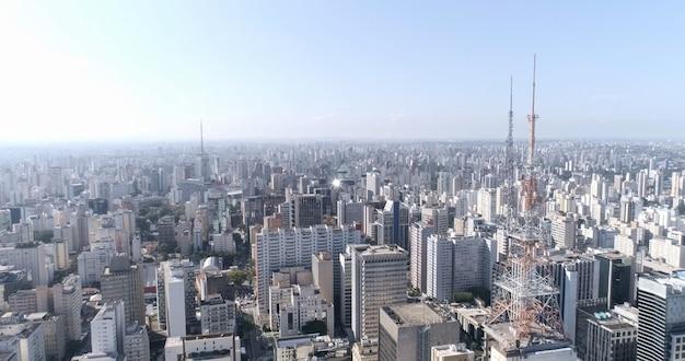 Veduta aerea della città di sao paulo, brasile.