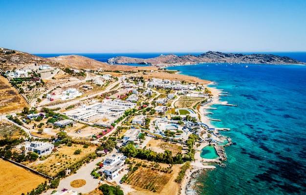 Vista aerea sulla costa con bellissime località