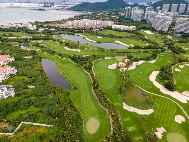 Vista aerea del campo da golf