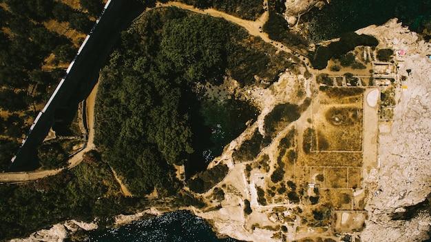 Veduta aerea del capri isola vacanza italiana con una bella natura