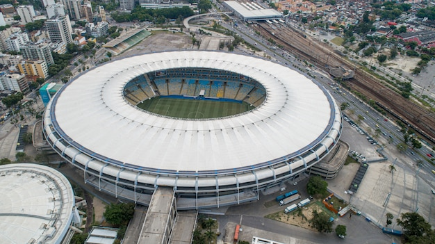 Vista aerea del leggendario stadio di calcio maracana (stadio jornalista mario filho).