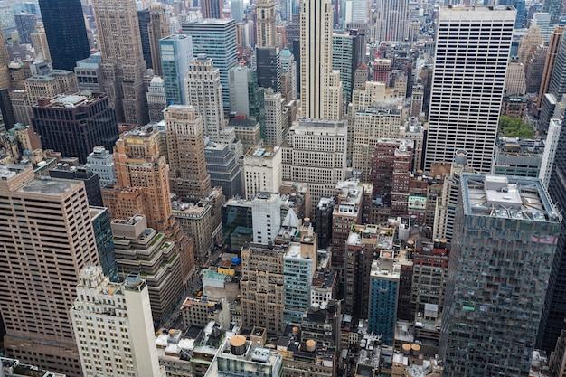 Vista aerea dei tetti di manhattan