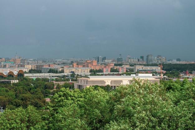 Vista aerea del centro della città di mosca di mosca