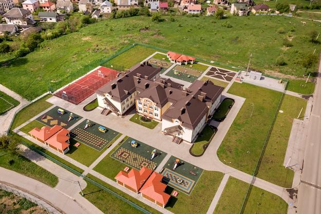 Vista aerea del nuovo edificio prescool.