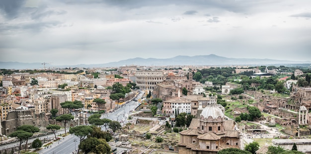 Veduta aerea di roma