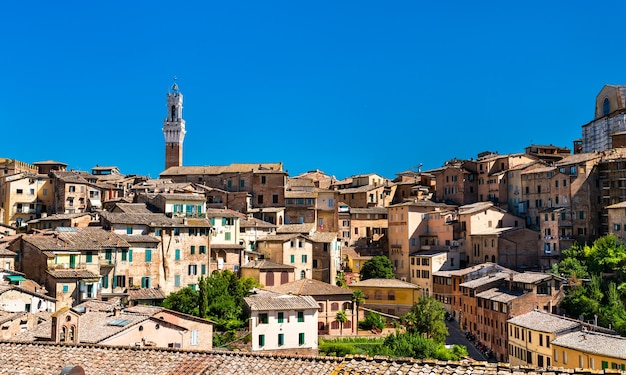 Veduta aerea di siena. in toscana, italia
