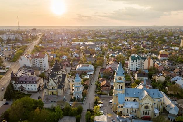 Veduta aerea dell'area urbana