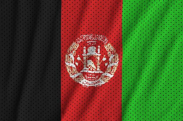 Bandiera afghanistan stampata su un tessuto a rete in nylon per abbigliamento sportivo in poliestere