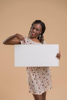 Segno di donna africana