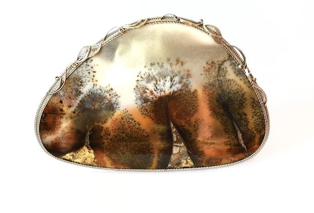 Minerale di agata con aspetto simile a un dipinto di paesaggio (landscape agate)