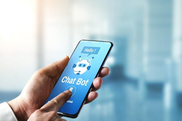 Concetto di applicazione del servizio clienti digitale intelligente ai chatbot