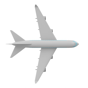 Aereo su sfondo bianco. illustrazione 3d isolata