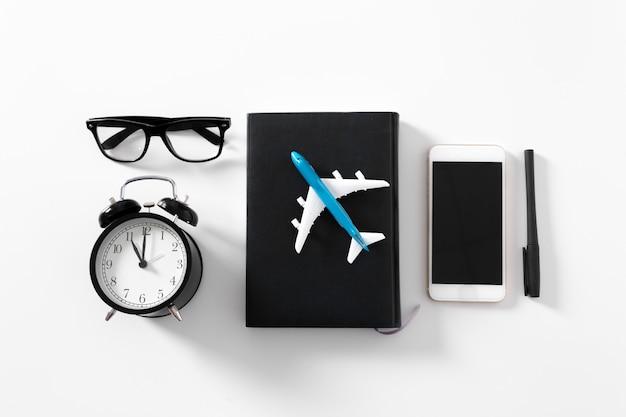 Aeroplano con copyspace Foto Premium