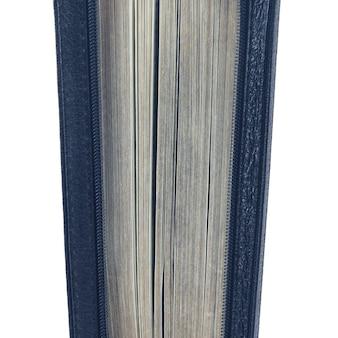 Socchiusa sta la bibbia su uno sfondo bianco. mistero chiuso libri saggi