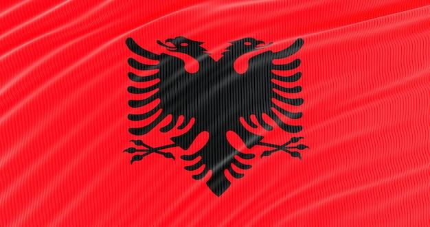 Bandiera albania per il memorial day, bandiera sventolante albania, giorno dell'indipendenza.