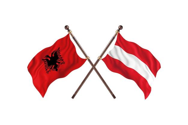 Albania contro austria two flags