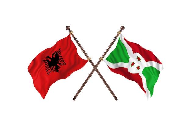 Albania contro burundi two flags Foto Premium
