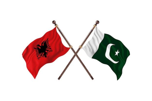 Albania contro pakistan two flags