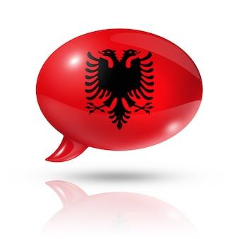 Nuvoletta bandiera albanese