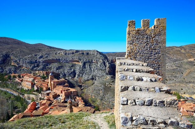 Città medievale di albarracin a teruel spagna