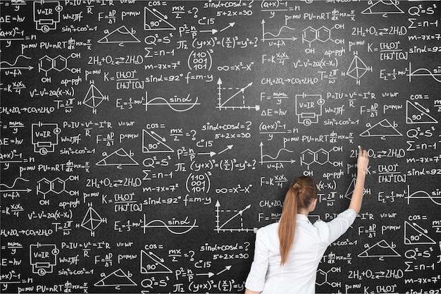 Albert einstein algebra sfondo lavagna lavagna business