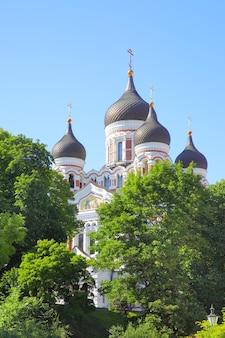 La cattedrale alexander nevsky nella città vecchia di tallin, estonia