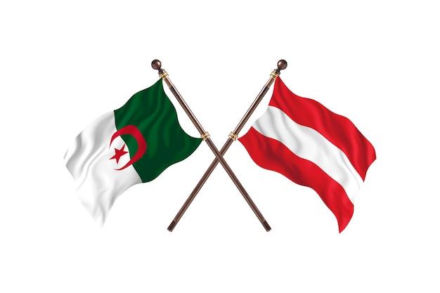 Algeria contro austria two flags
