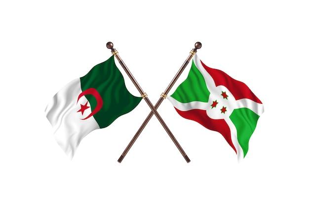 Algeria contro burundi two flags