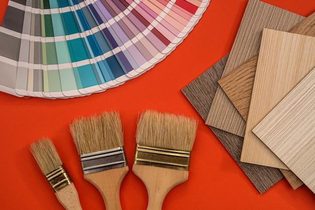Tutti gli articoli per la riparazione e il design, pennello con campioni di colore in vinile, industria