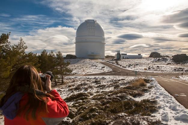 Almeria, spagna, osservatorio di calar alto