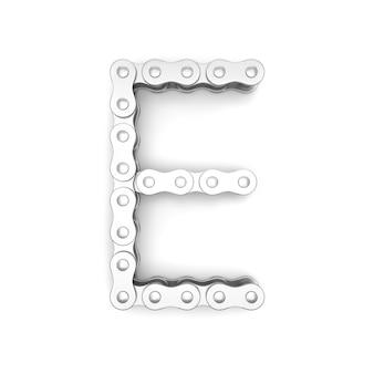 Alfabeto fatto dalla catena della bicicletta