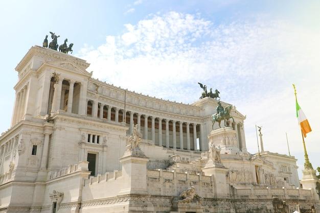 Altare della patria, roma, italia Foto Premium