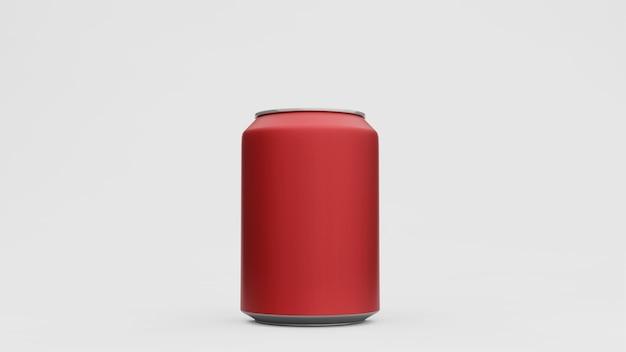 Lattina di alluminio o confezione di soda mock up isolati su sfondo bianco. , rendering 3d
