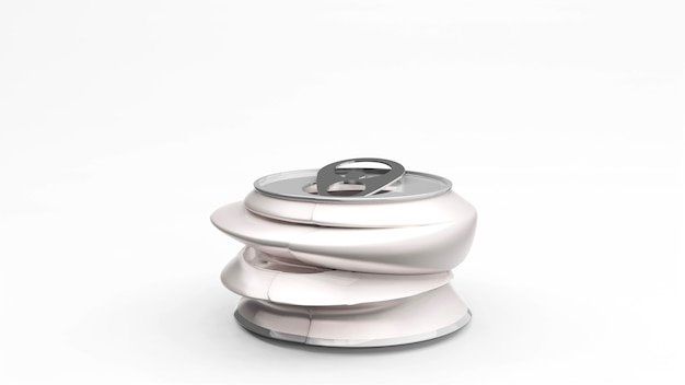Lattina di alluminio o confezione di soda mock up