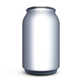 Latta di alluminio rendering 3d isolato