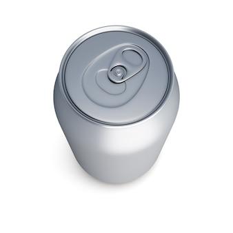 La soda di alluminio può immagine di rendering 3d isolata.