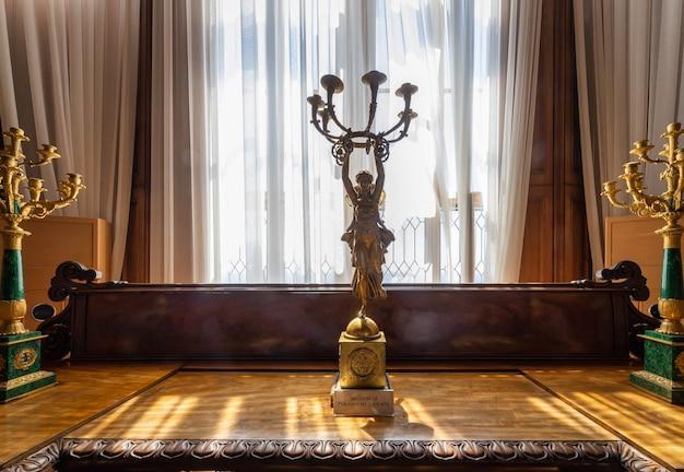 Alupka crimea interno del palazzo del conte vorontsov