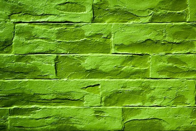 Incredibile mattone verde neon in stile moderno per lavori di design