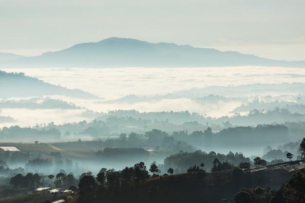 Incredibile paesaggio di montagne in guatemala