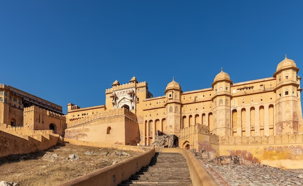 Amber fort nel quartiere amer di jaipur, india.