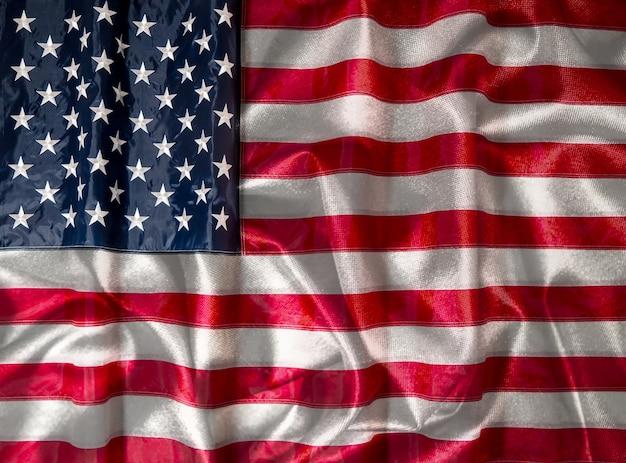 Bandiera americana degli stati uniti. independence day il 4 luglio, memorial day, veterans day, labor day. sfocatura
