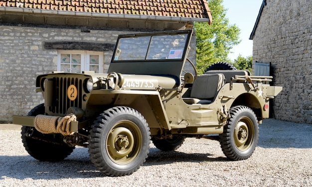 Veicolo militare americano della jeep della seconda guerra mondiale